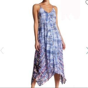 Charlie Jade Print Silk Crepe Handkerchief Dress